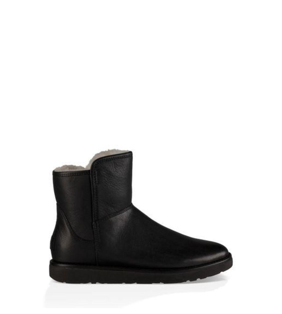 UGG Abree Mini Leather Womens Boots Nero 9