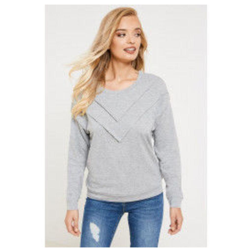 Jacqueline de Yong Vikki Pullover Sweater - Grey