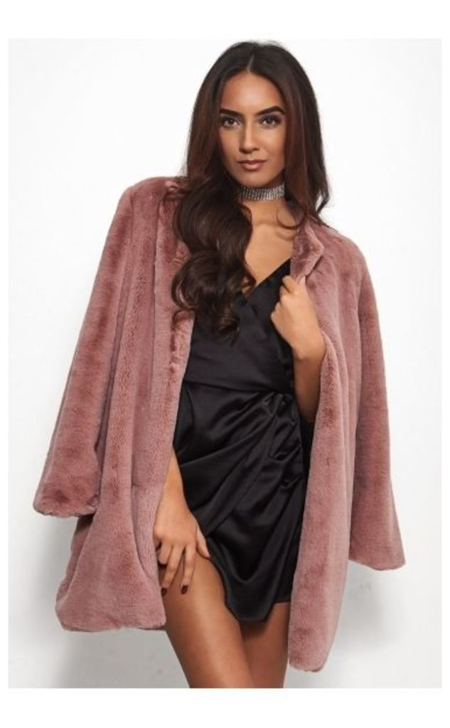 Coco Pink Faux Fur Coat
