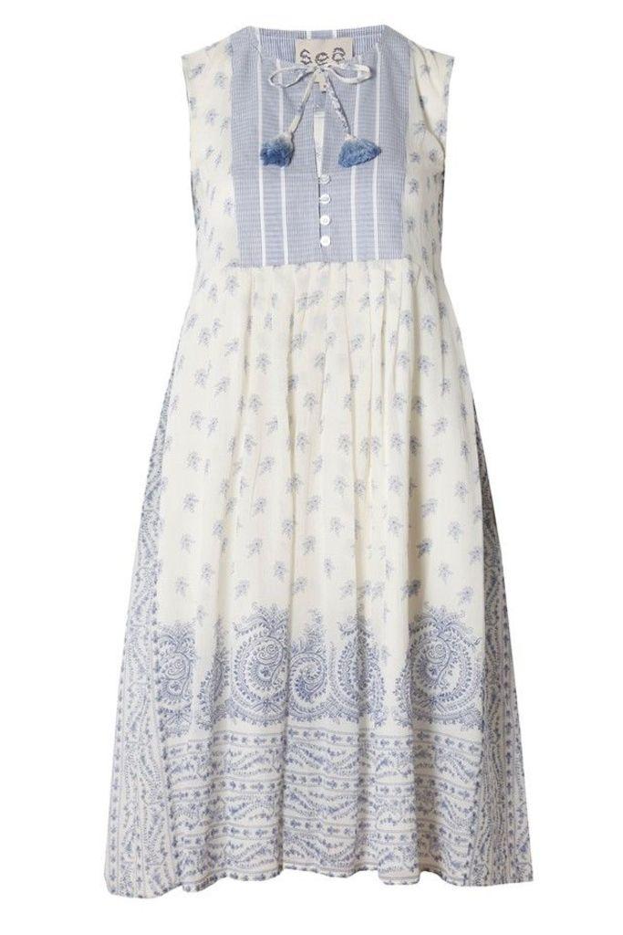 Stripe and Border Print Dress