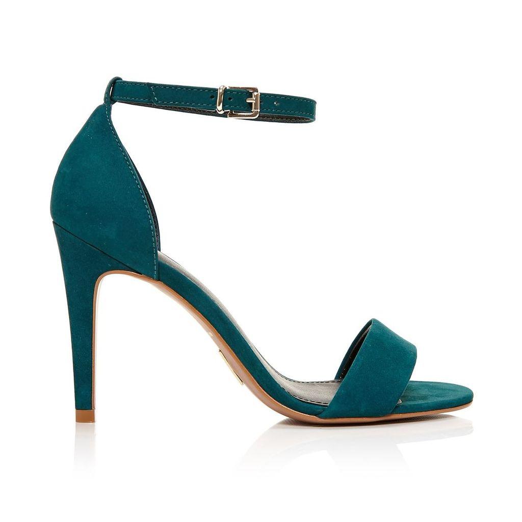 Moda in Pelle Lumia Teal High Smart Sandals