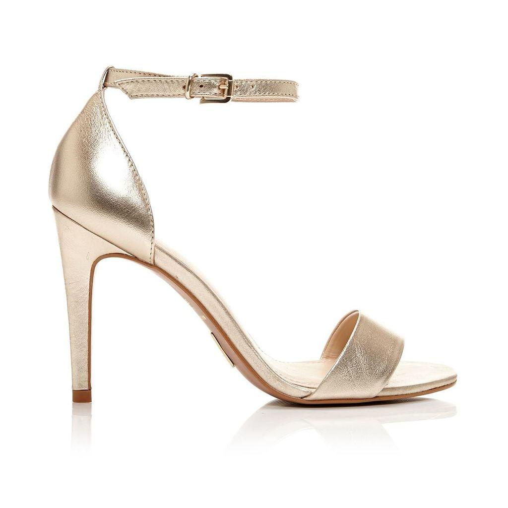 Moda in Pelle Lumia Champagne High Smart Sandals