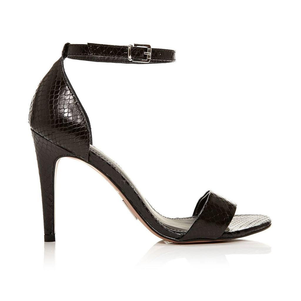 Moda in Pelle Lumia Black High Smart Sandals
