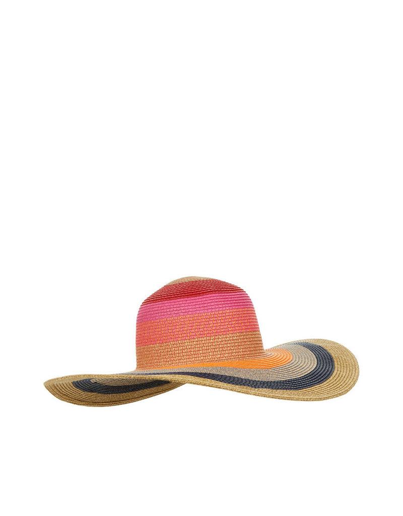 Multi Stripe Floppy Hat