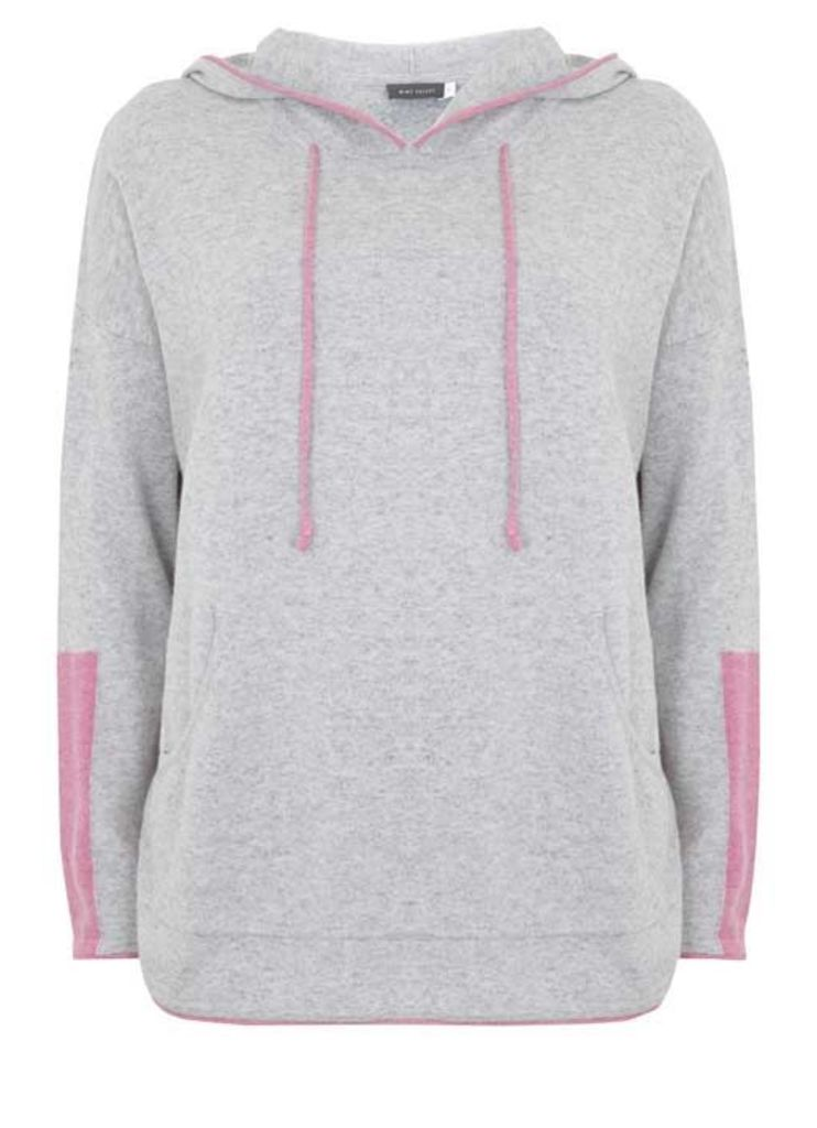 Silver Grey & Pink Tipped Sporty Knit