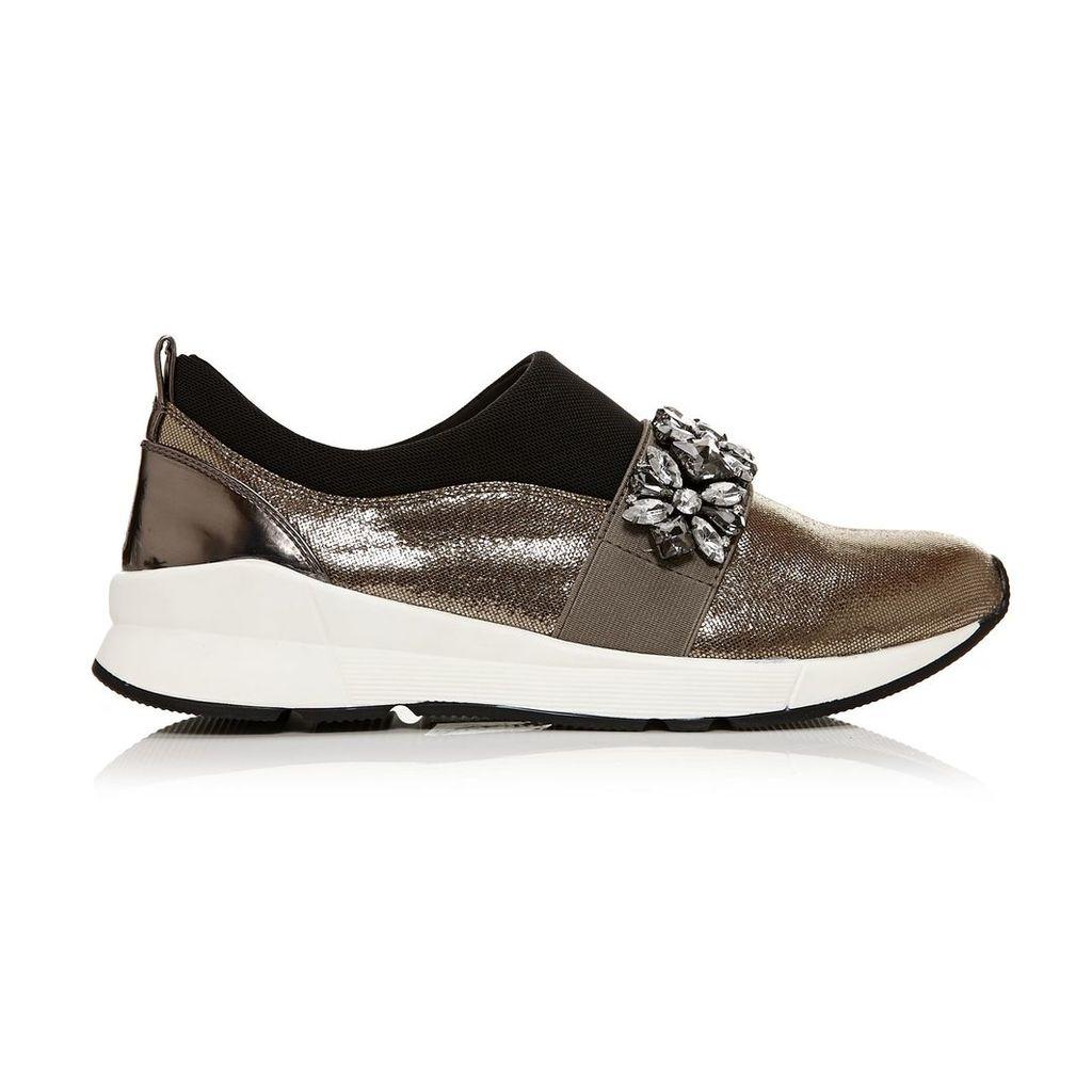 Moda in Pelle Adras Pewter Low Leisure Shoes