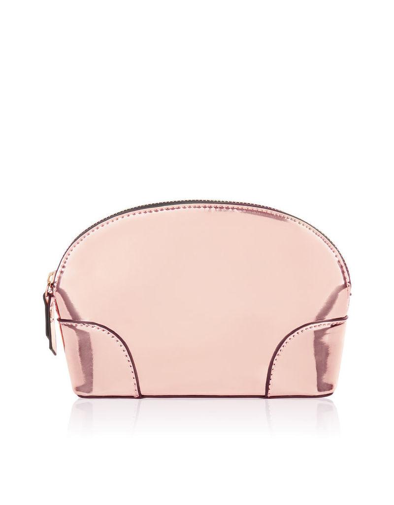 Mirrored Rose Gold Makeup Bag