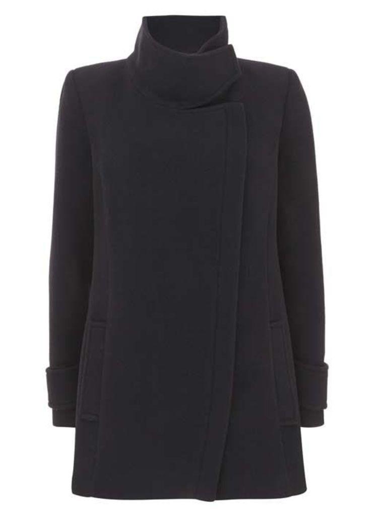 Navy Wool Blend Pea Coat