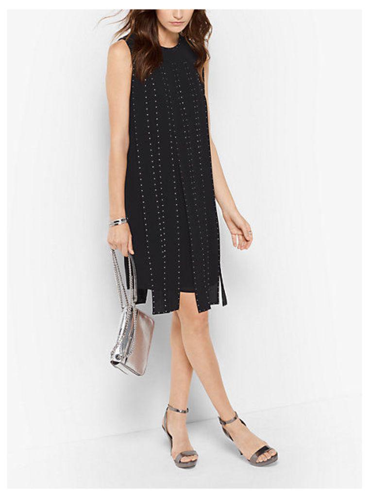 Studded Slashed Dress