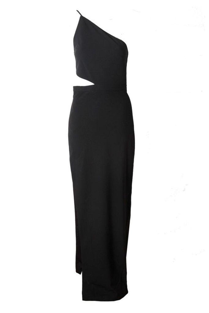 Asymmetrical Bandeau Gown in Black