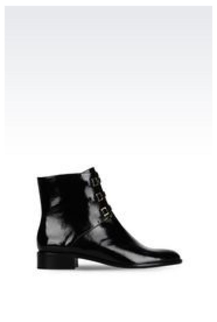 OFFICIAL STORE EMPORIO ARMANI PATENT ANKLE BOOT