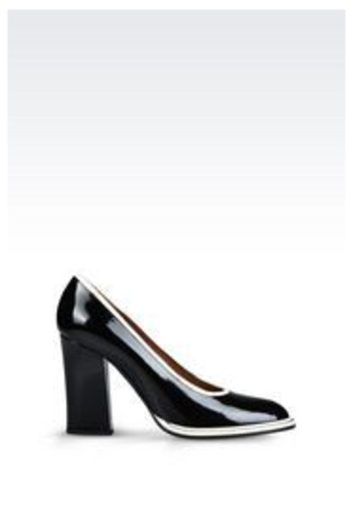 OFFICIAL STORE EMPORIO ARMANI PATENT COURT SHOE