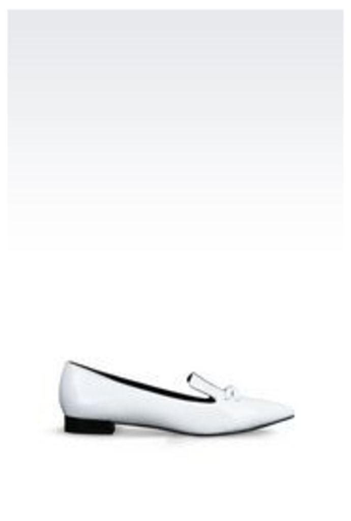 OFFICIAL STORE EMPORIO ARMANI PATENT BALLET FLAT