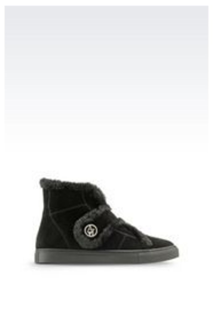 OFFICIAL STORE ARMANI JEANS SUEDE ANKLE BOOT