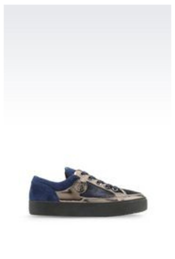OFFICIAL STORE ARMANI JEANS SNEAKER IN PONY SKIN