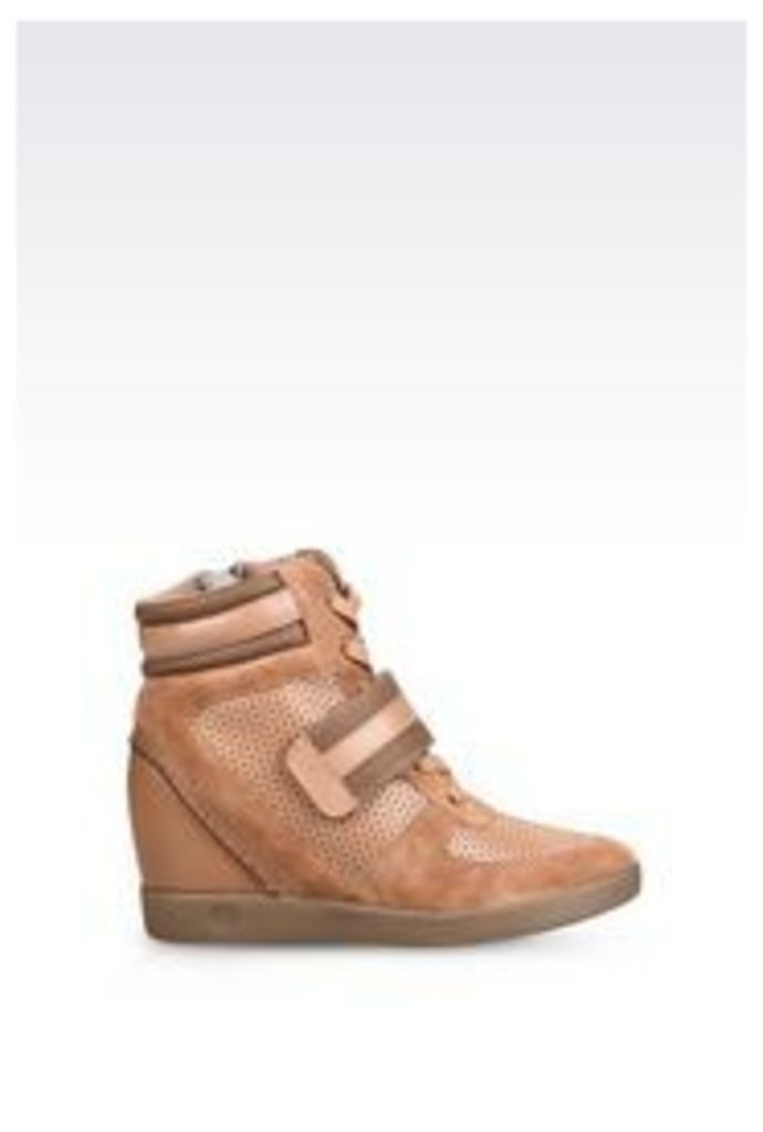 OFFICIAL STORE ARMANI JEANS HIGH-TOP WEDGE SNEAKER