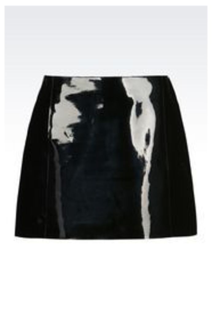 OFFICIAL STORE EMPORIO ARMANI RUNWAY SKIRT IN VINYL