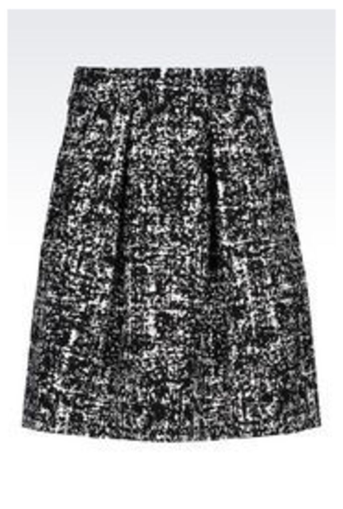 OFFICIAL STORE EMPORIO ARMANI SKIRT IN STRETCH JACQUARD