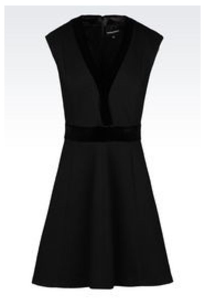 OFFICIAL STORE EMPORIO ARMANI DRESS IN QUILTED OTTOMAN