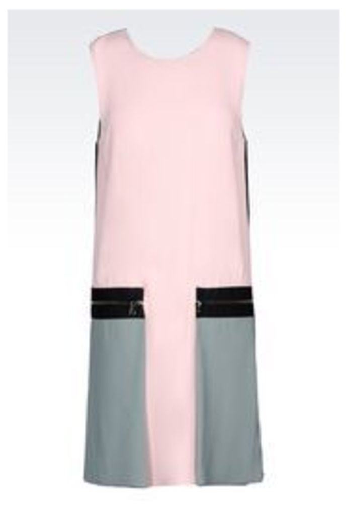 OFFICIAL STORE EMPORIO ARMANI DRESS IN ENVERS SATIN