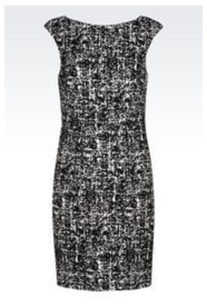 OFFICIAL STORE EMPORIO ARMANI SHEATH IN STRETCH JACQUARD