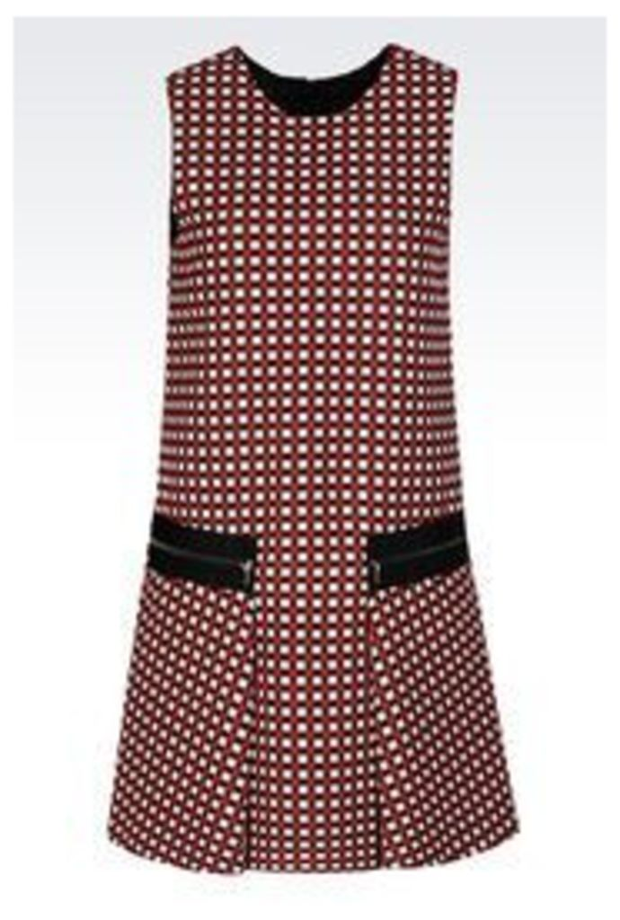 OFFICIAL STORE EMPORIO ARMANI DRESS IN JACQUARD