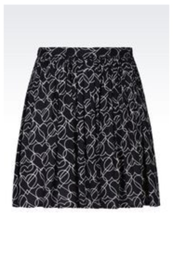 OFFICIAL STORE ARMANI JEANS VISCOSE SKIRT