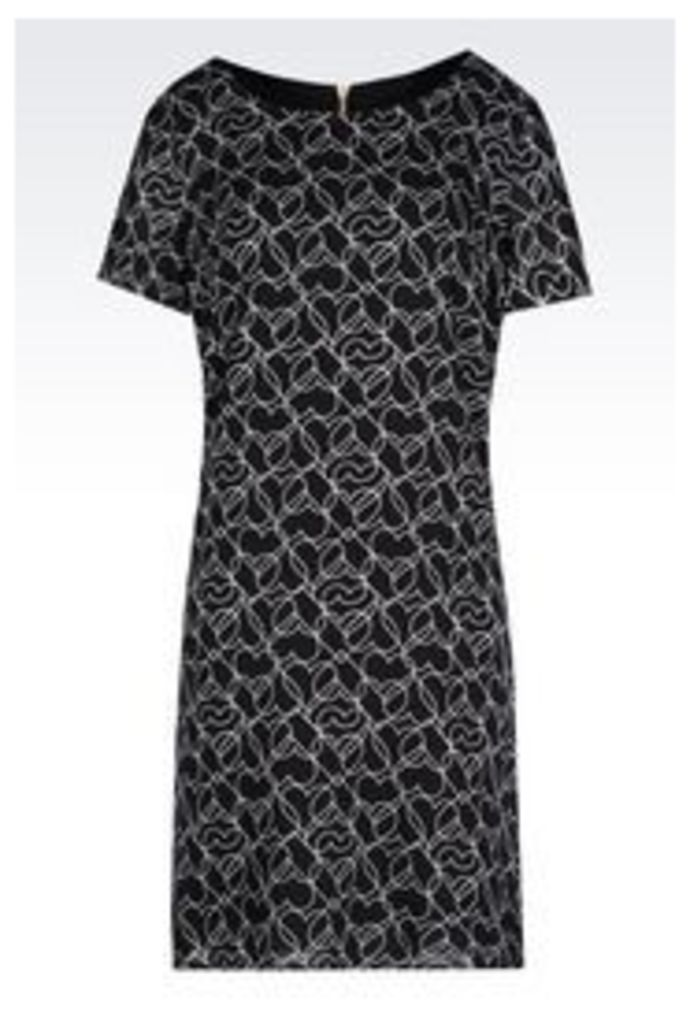 OFFICIAL STORE ARMANI JEANS HEART PRINT DRESS