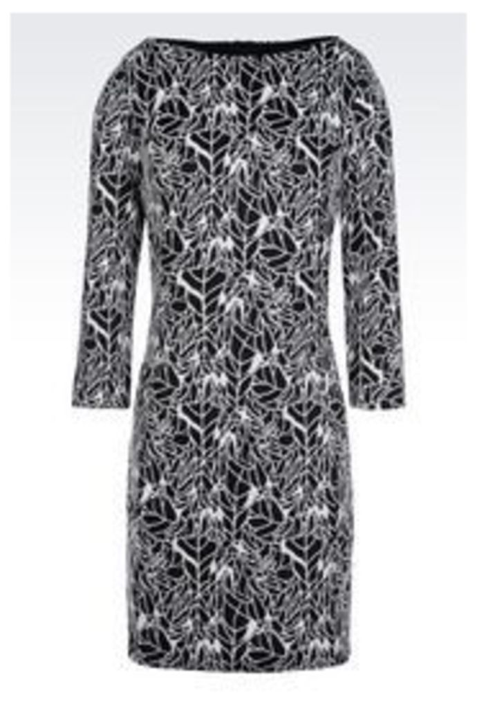 OFFICIAL STORE ARMANI JEANS DRESS IN JACQUARD