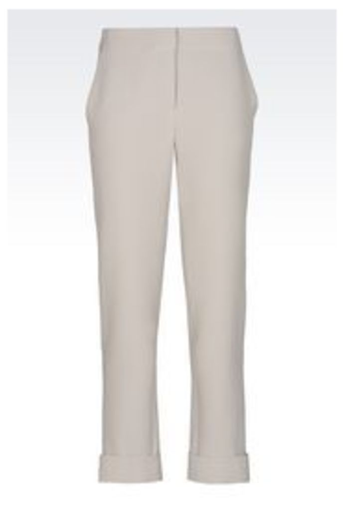 OFFICIAL STORE EMPORIO ARMANI TROUSERS IN TECHNICAL FABRIC
