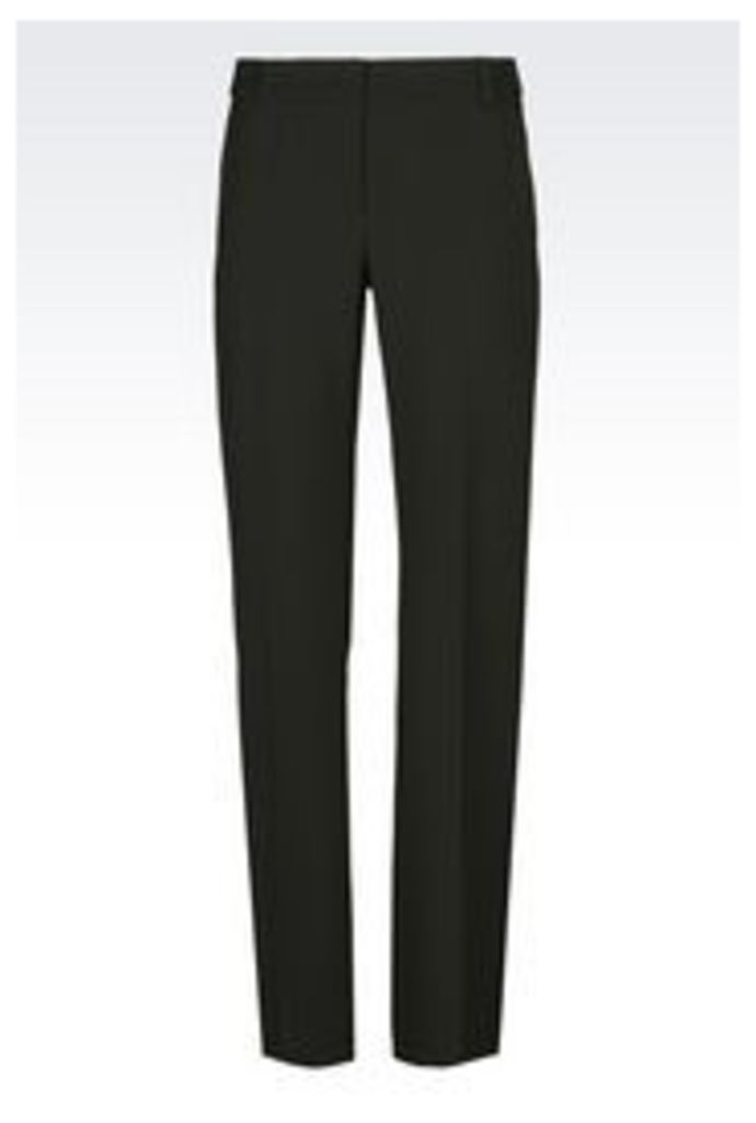 OFFICIAL STORE EMPORIO ARMANI TROUSERS IN WOOL BLEND