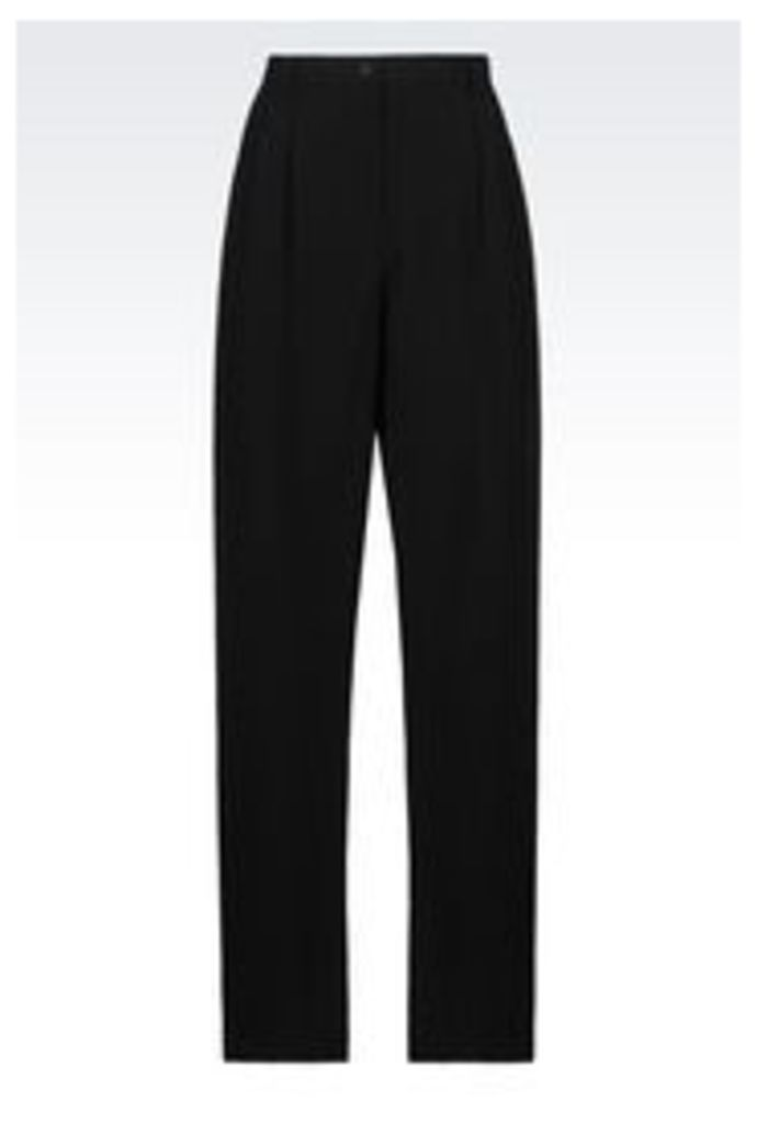 OFFICIAL STORE EMPORIO ARMANI RUNWAY TROUSERS IN TECHNICAL FABRIC