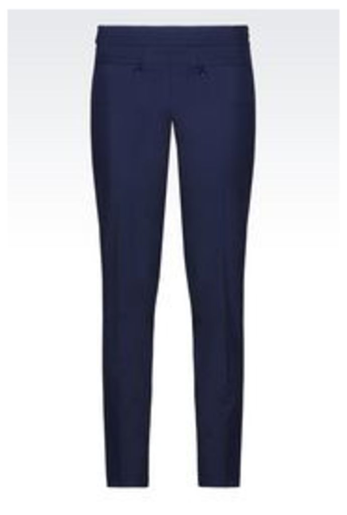 OFFICIAL STORE EMPORIO ARMANI TROUSERS IN STRETCH WOOL