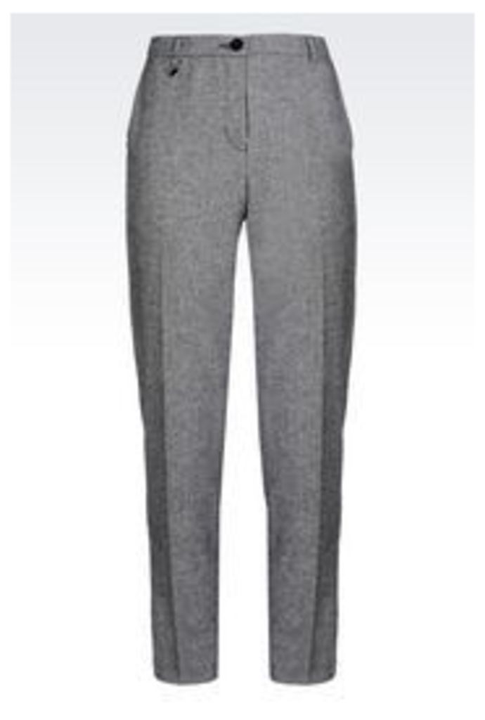 OFFICIAL STORE ARMANI JEANS WOOL BLEND TROUSERS