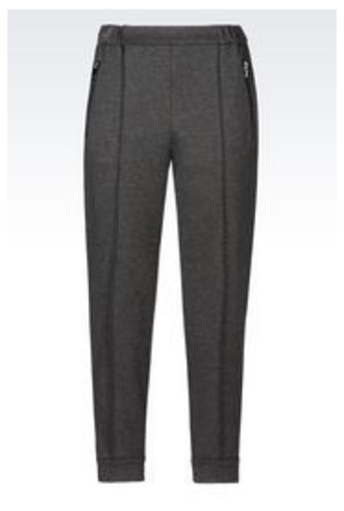 OFFICIAL STORE ARMANI JEANS TROUSERS IN INTERLOCK