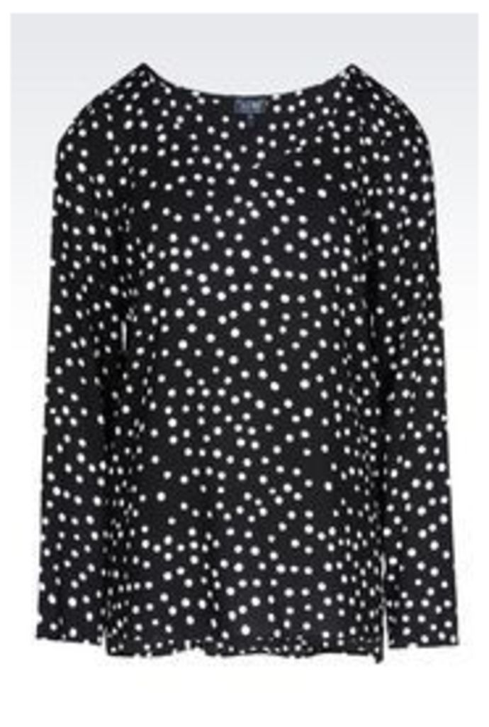 OFFICIAL STORE ARMANI JEANS HEART PRINT BLOUSE