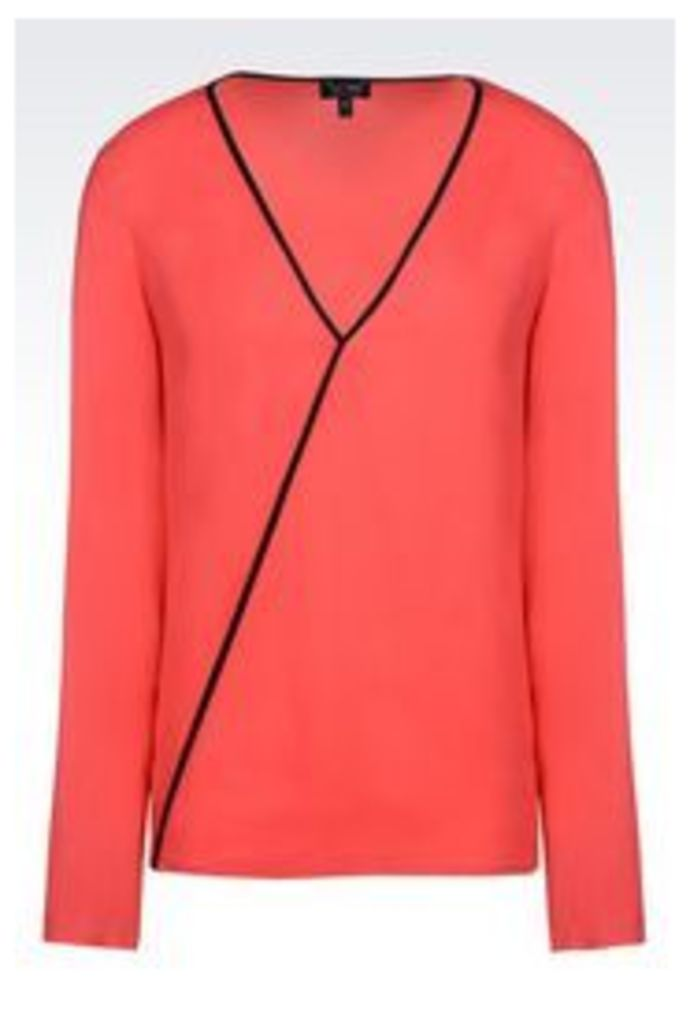 OFFICIAL STORE ARMANI JEANS VISCOSE BLOUSE