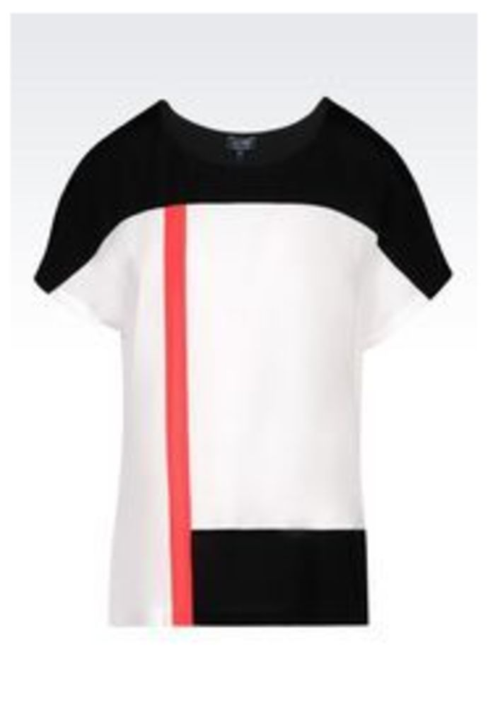 OFFICIAL STORE ARMANI JEANS TOP IN CRÊPE