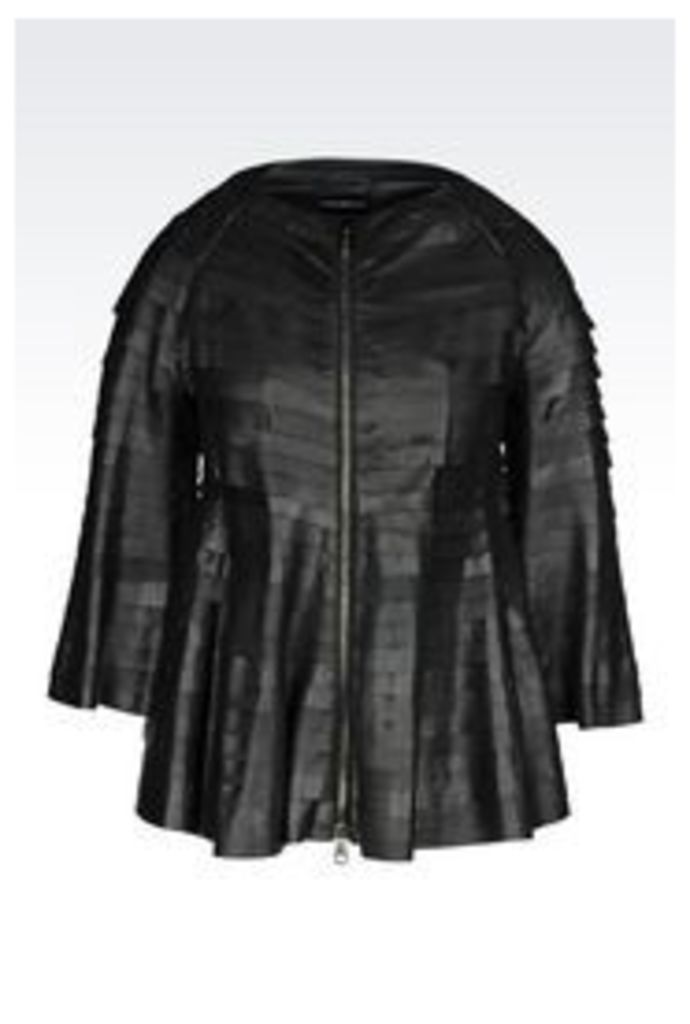 OFFICIAL STORE EMPORIO ARMANI Leather jacket