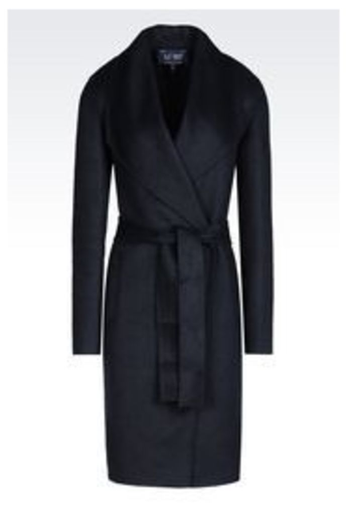 OFFICIAL STORE ARMANI JEANS COAT IN WOOL BLEND