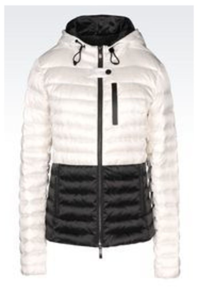 OFFICIAL STORE ARMANI JEANS DOWN JACKET IN TECHNICAL FABRIC