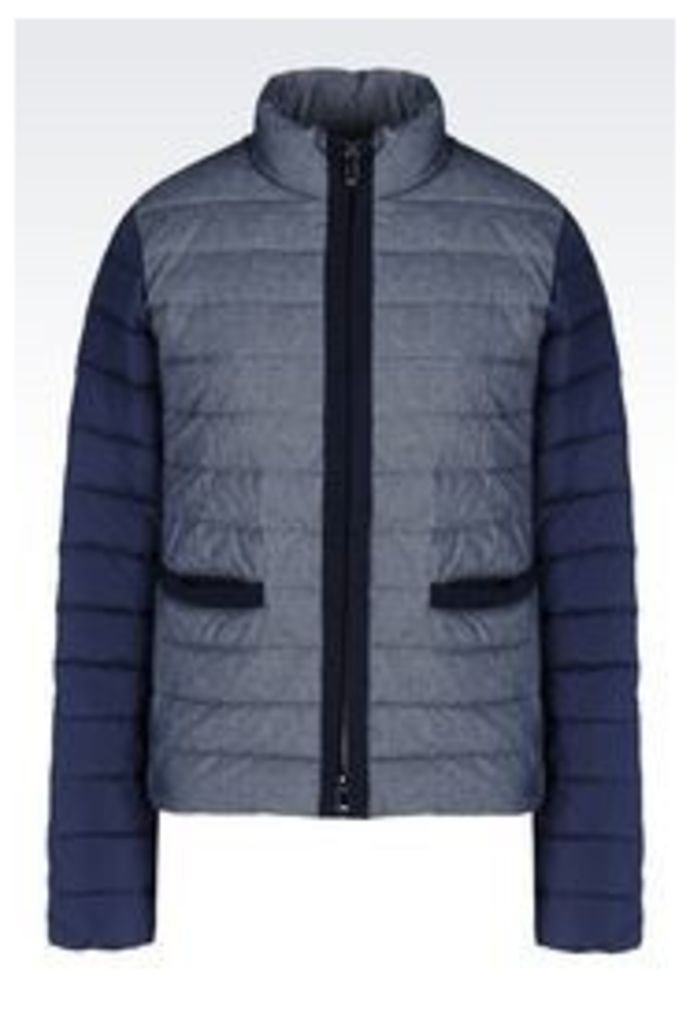 OFFICIAL STORE ARMANI JEANS DOWN JACKET IN CHAMBRAY