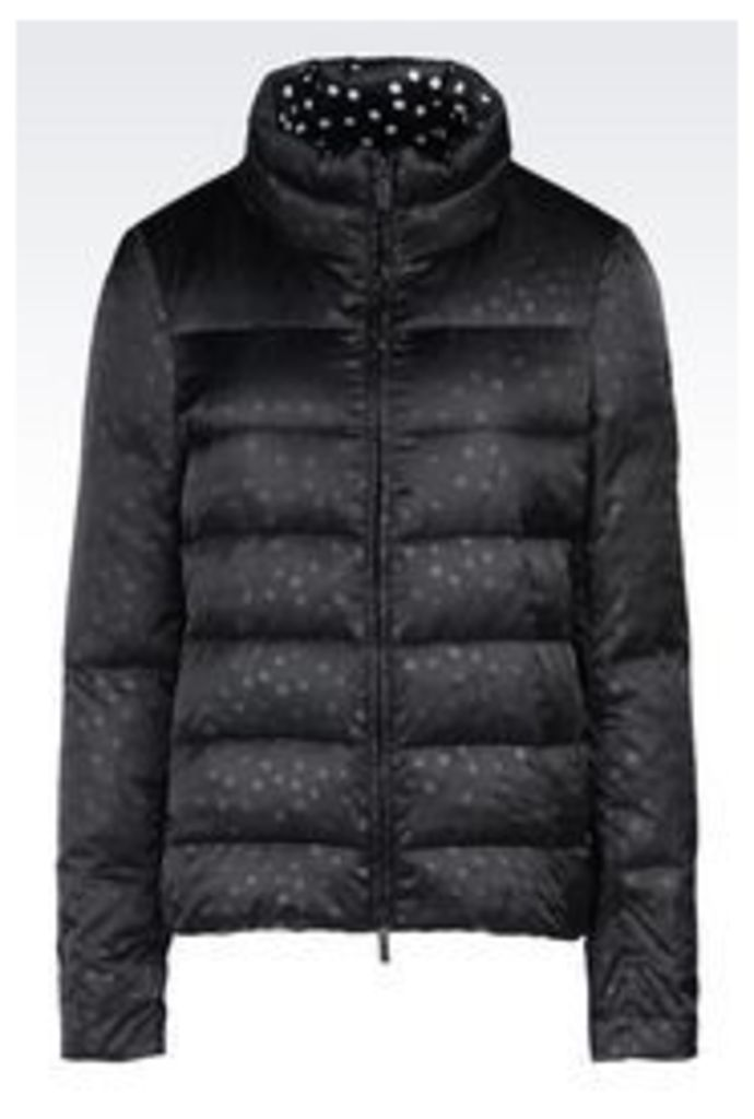 OFFICIAL STORE ARMANI JEANS DOWN JACKET IN PRINTED NYLON
