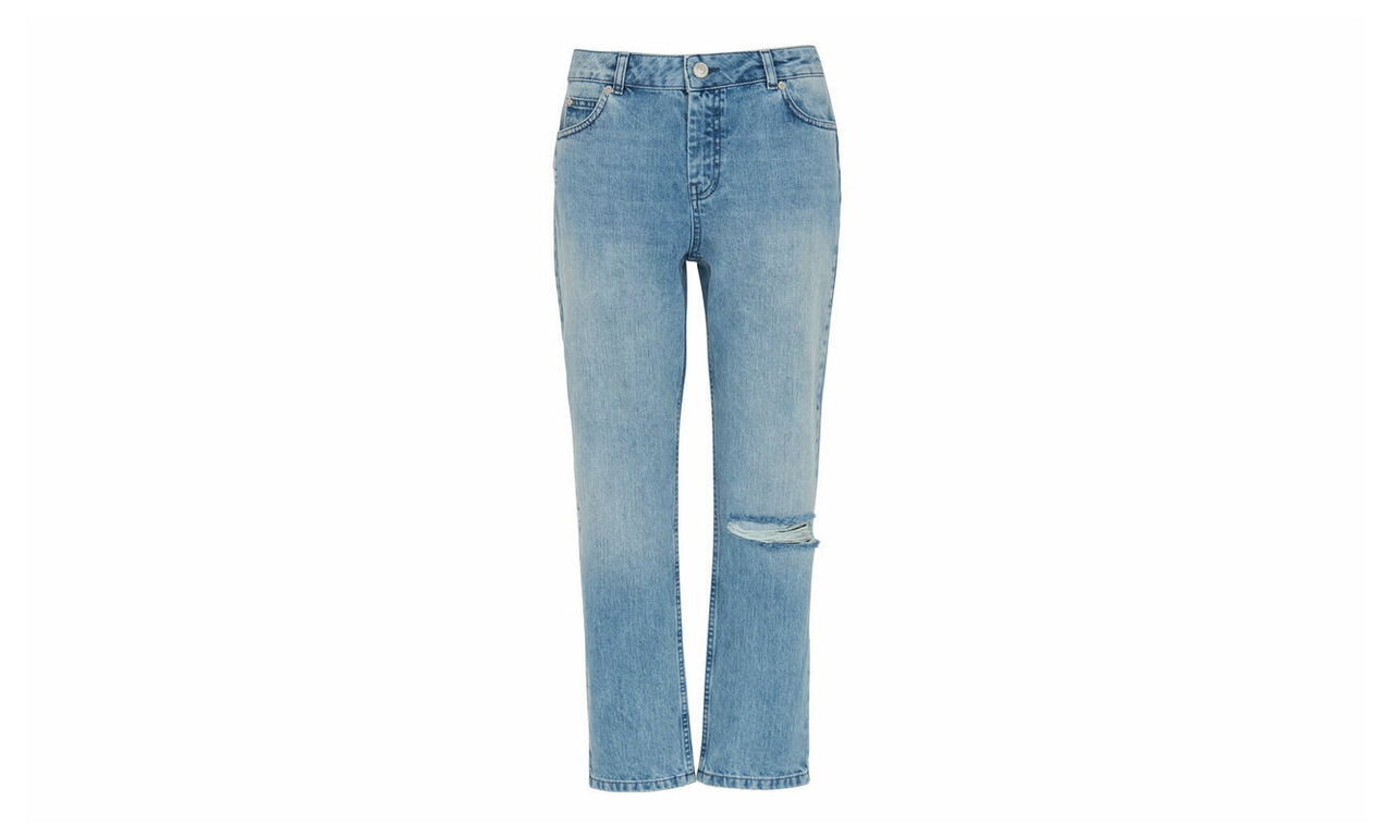 Distressed Straight Jean