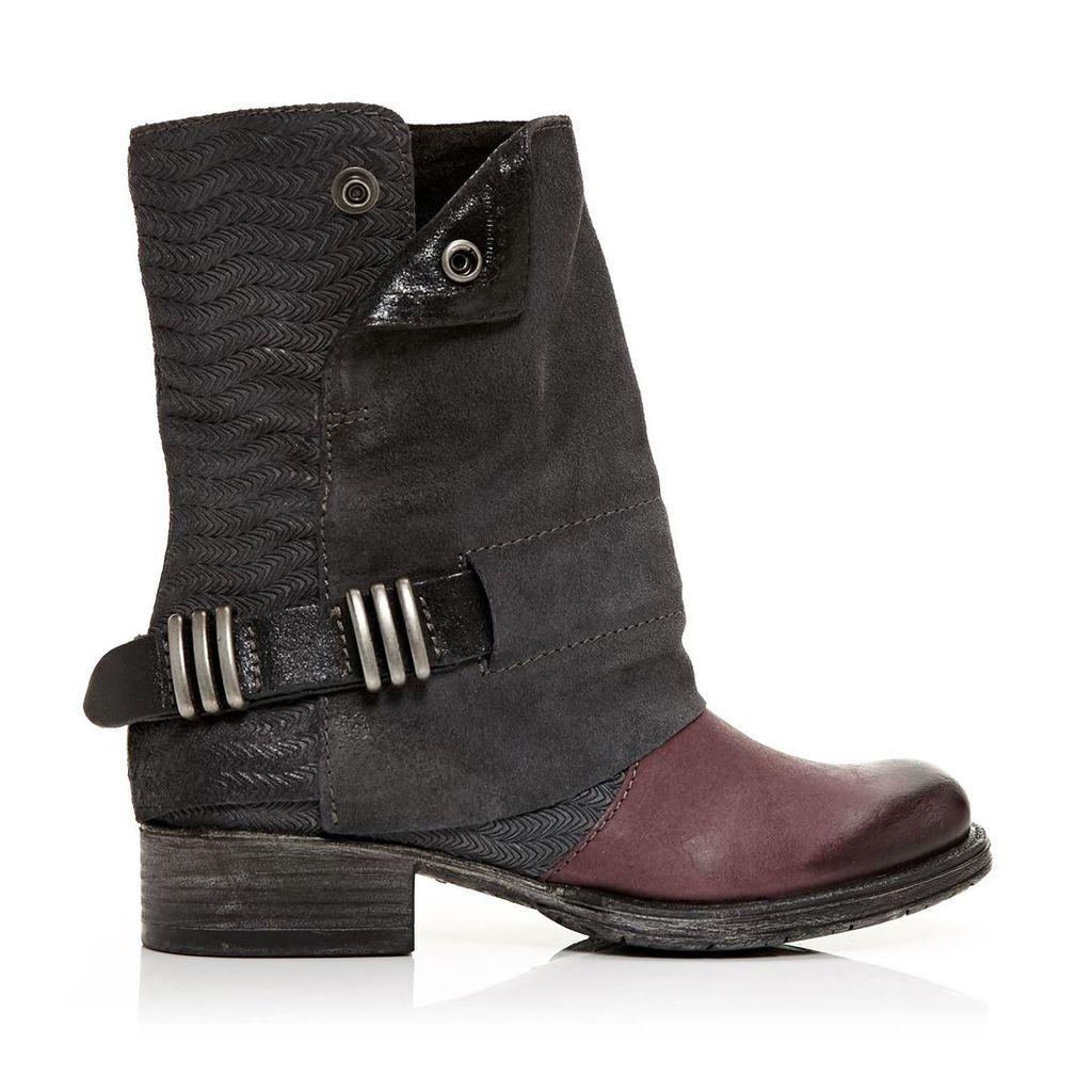 Moda in Pelle Avina Black Low Casual Short Boots