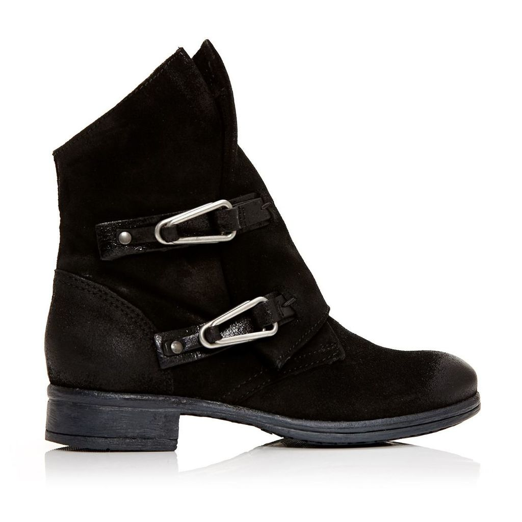 Moda in Pelle Alera Black Low Casual Short Boots