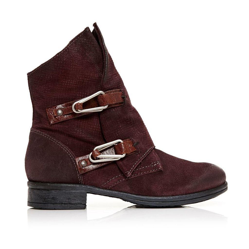 Moda in Pelle Alera Burgundy Low Casual Short Boots