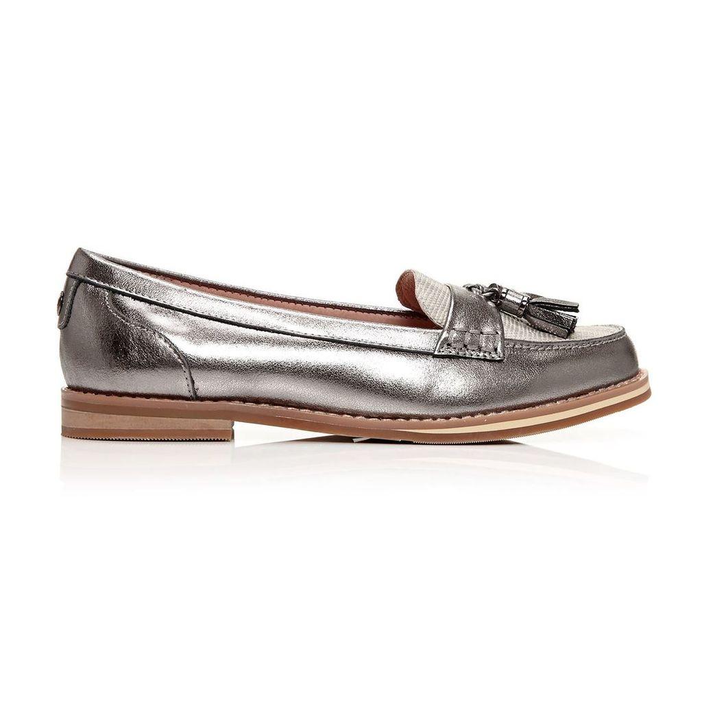 Moda in Pelle Errica Pewter Low Smart Shoes