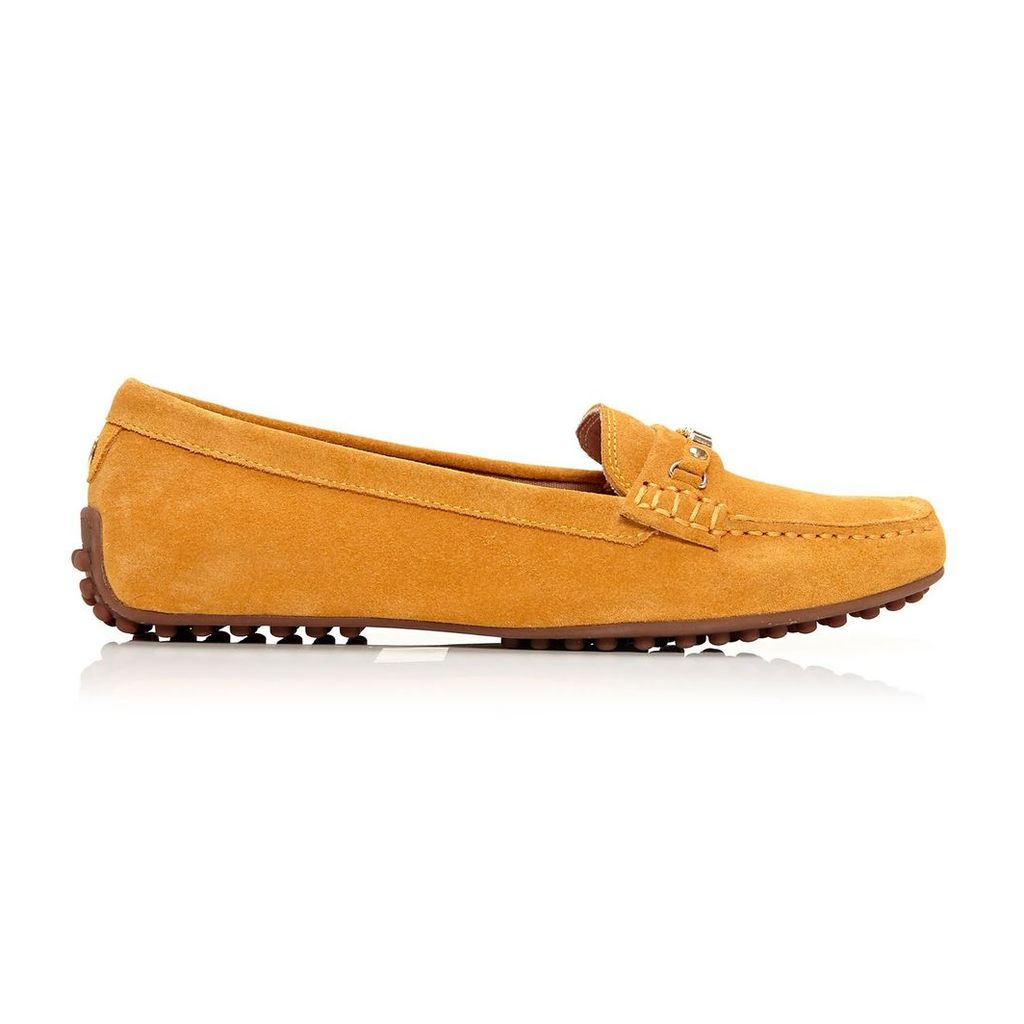 Moda in Pelle Emarli Yellow Flat Casual Shoes