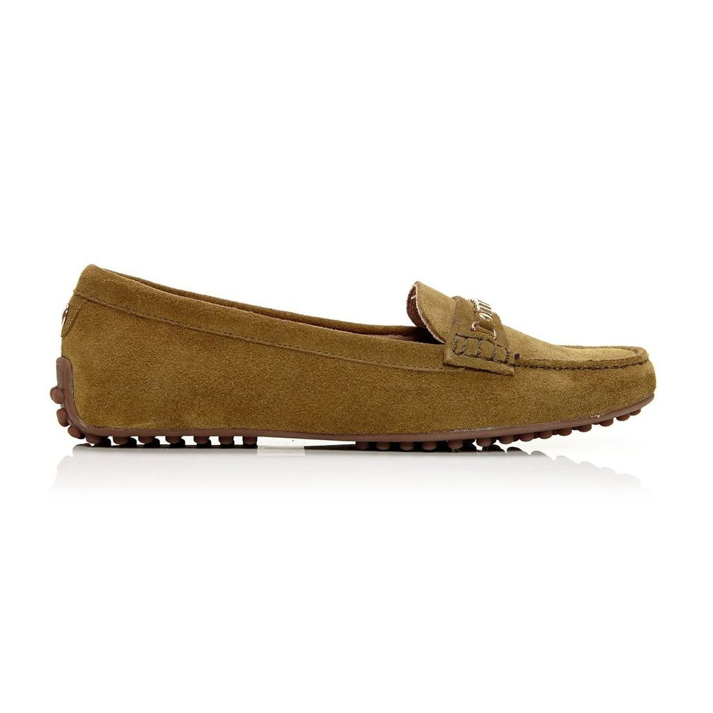 Moda in Pelle Emarli Khaki Flat Casual Shoes